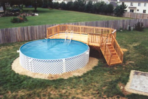 Pool Deck Ideas pool deck design ideas multi level wood deck for above ground swimming pool pool decks pinterest 10 X 10 Pool Deck Building Plans Only