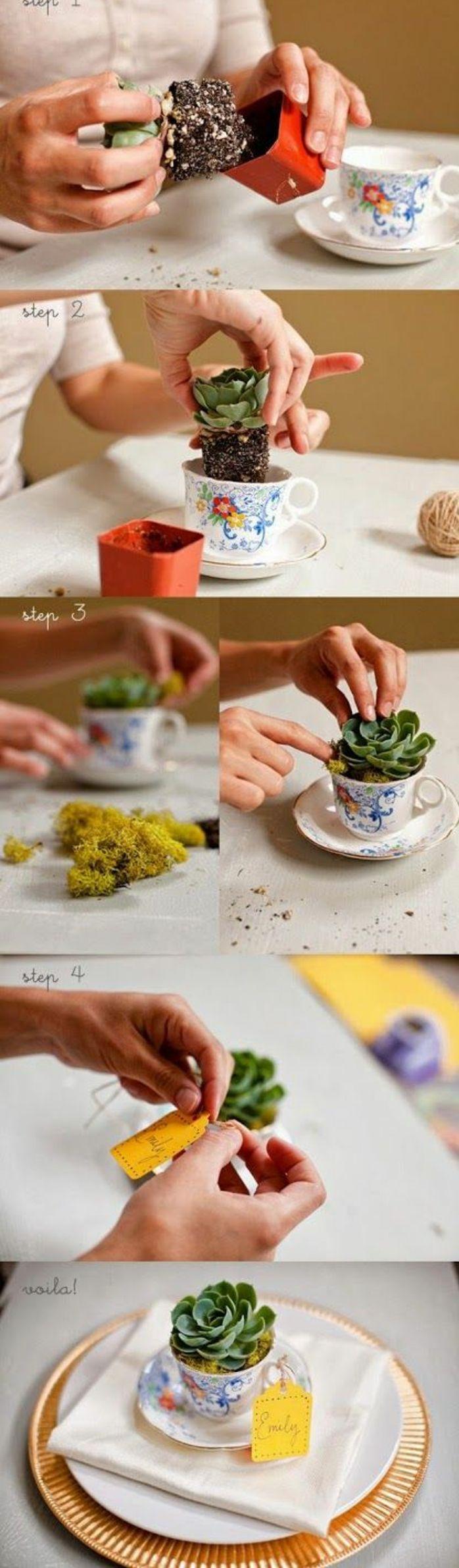 6bastelnmitmüllpflanzekaffeetassentischdekodiy