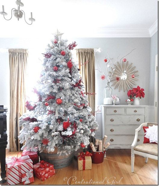 love the idea of putting the tree in a barrell plus this tree is gorgeous beautiful christmas treeswhite - Best White Christmas Tree