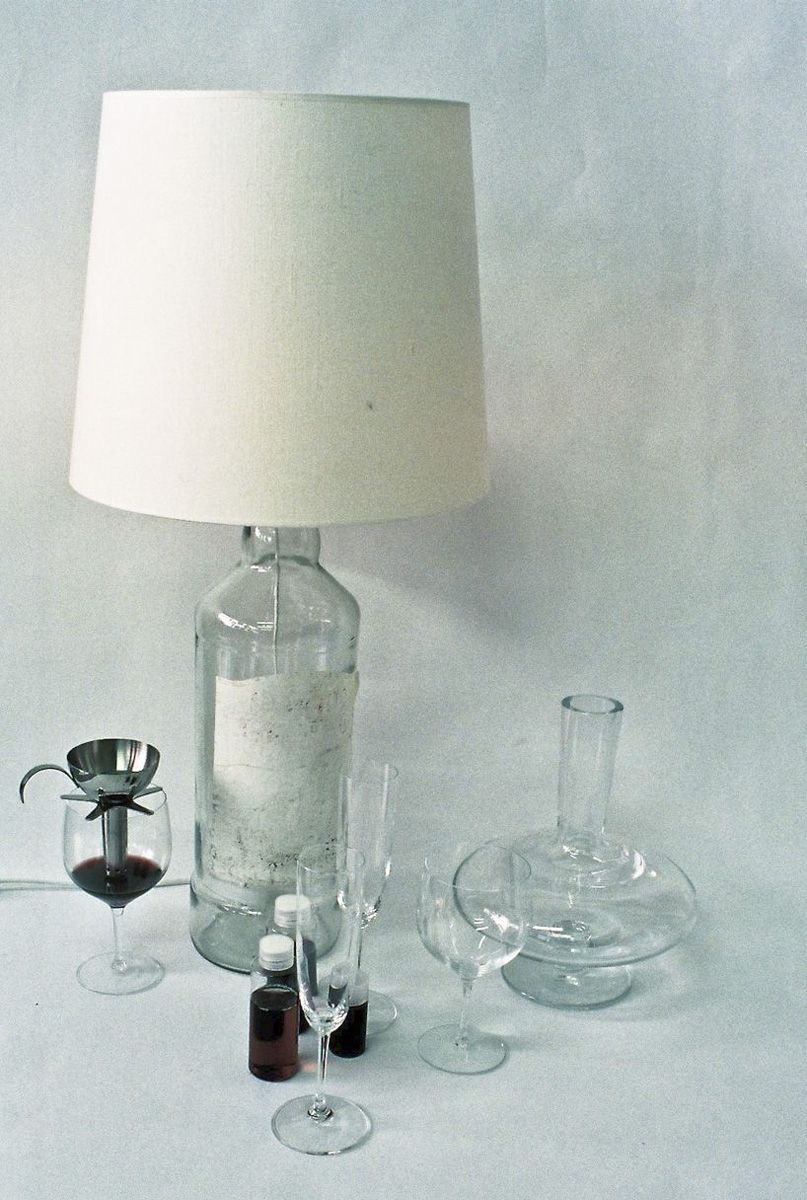 Martin Margiela lamps and wine, with Clémence Cahu
