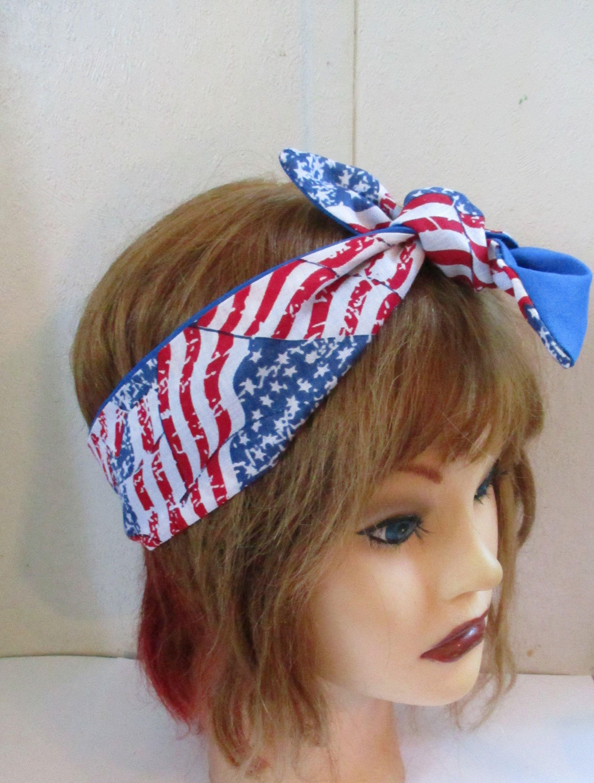 Ladies 100/% Cotton Retro Car Print Headband Headwrap Knot Scarf Rockabilly 50s