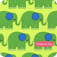 Bungle Jungle Lime Elephants Yardage SKU# 39502-16