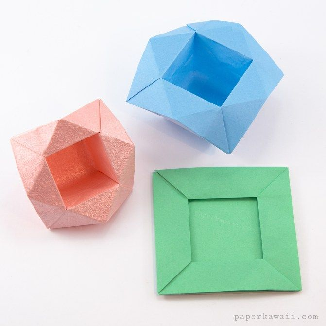 Origami Pop Up Picture Frame Boxes Tutorial Crafts Pinterest