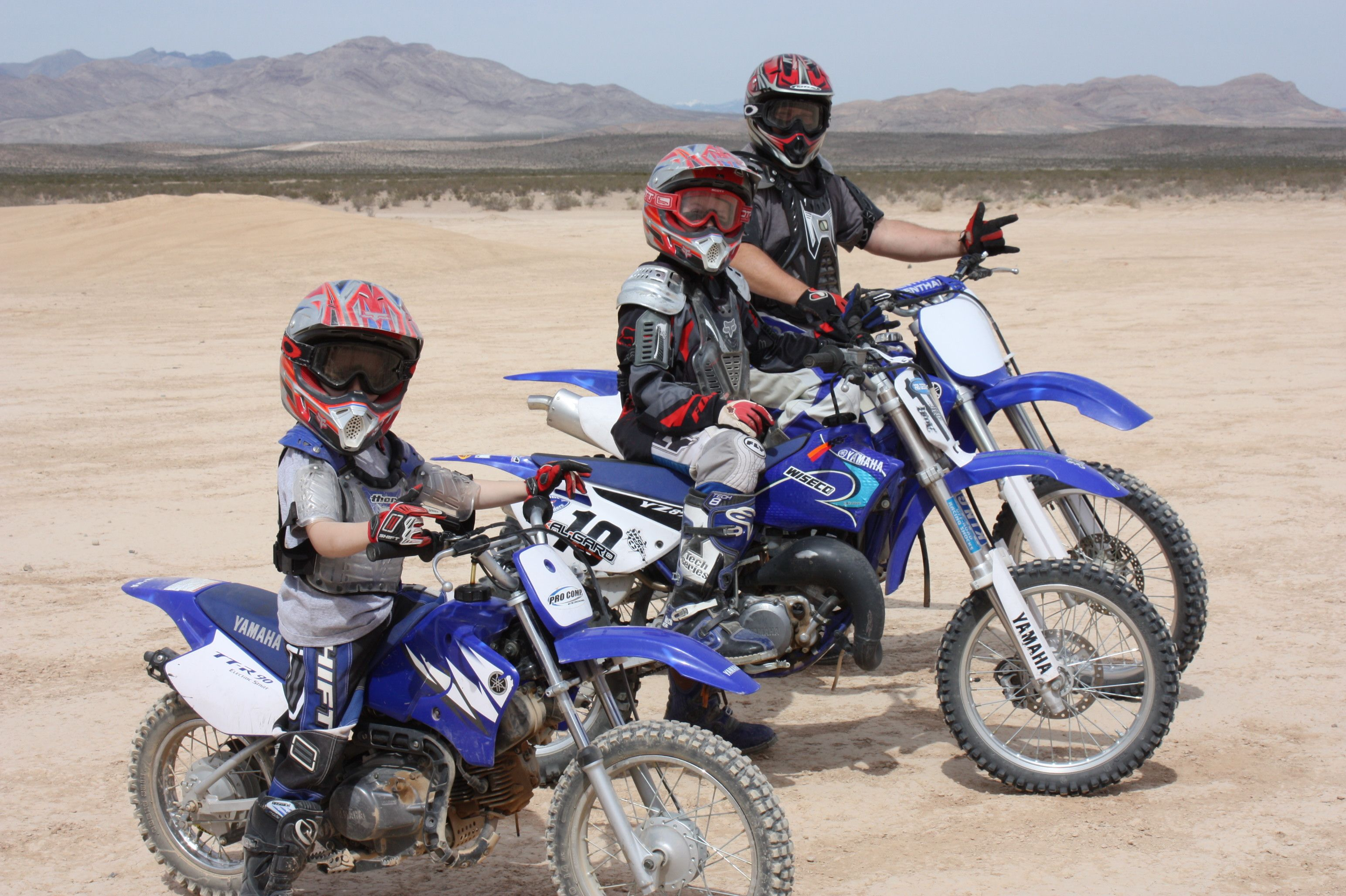 Riding at the Jean Dry Lake Bed...