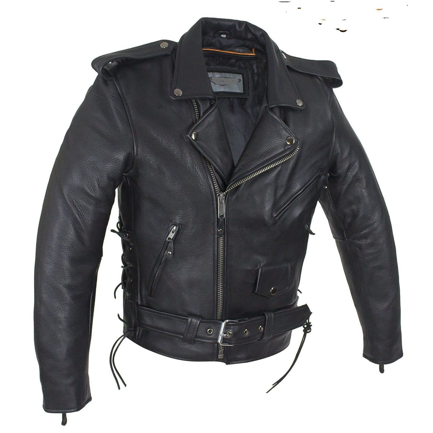 Milwaukee Leather Mens Classic Side Lace Police Style