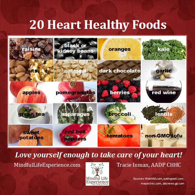 Heart month heart healthy foods mindful life wellness 20 foods that are good for hearts forumfinder Choice Image