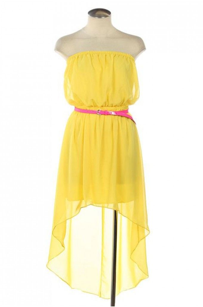 Yellow Casual Dresses for Juniors