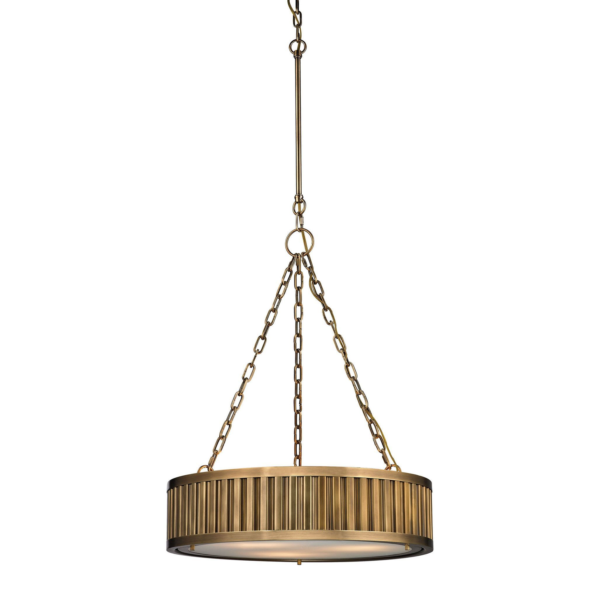 Linden manor light pendant in aged brass products pinterest