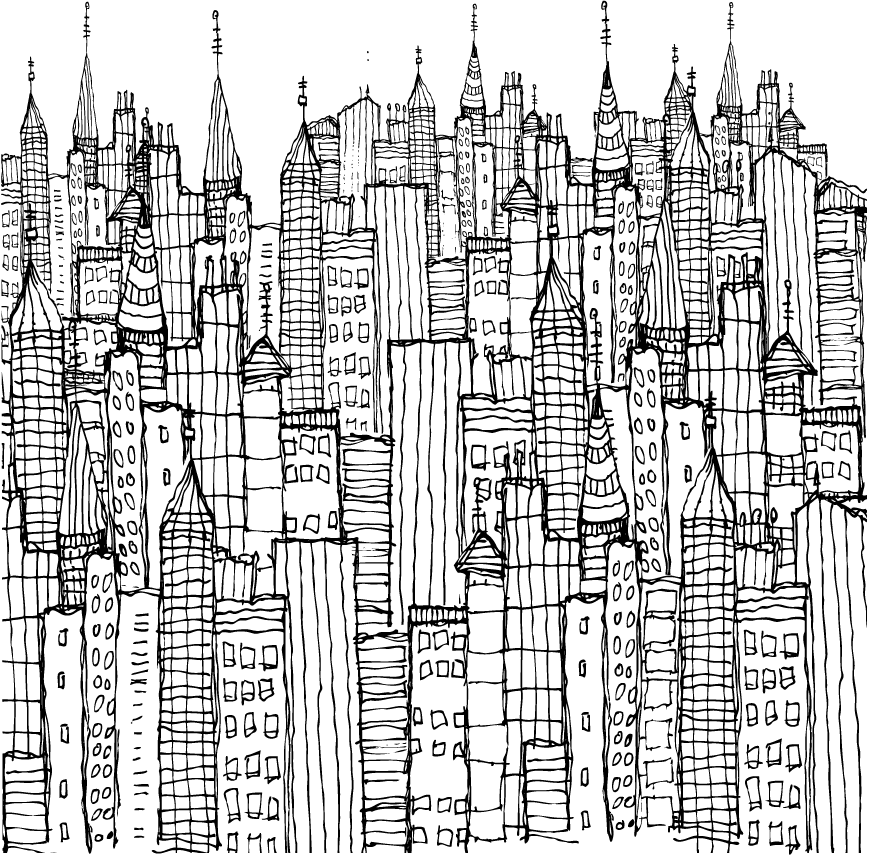 This symphpny of buildings actually prints out to be 7\