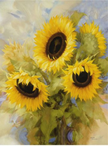 Sunflower Dreams Print by Igor Levashov at Art.com