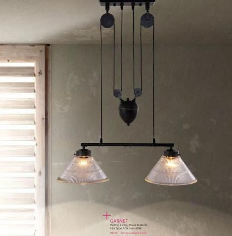 Industrial Style Pulley Lights For A Unique Antique Loft