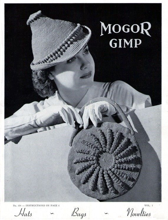 1930\'s Hats Bags Novelties 14 Vintage Patterns e-Book Vintage ...