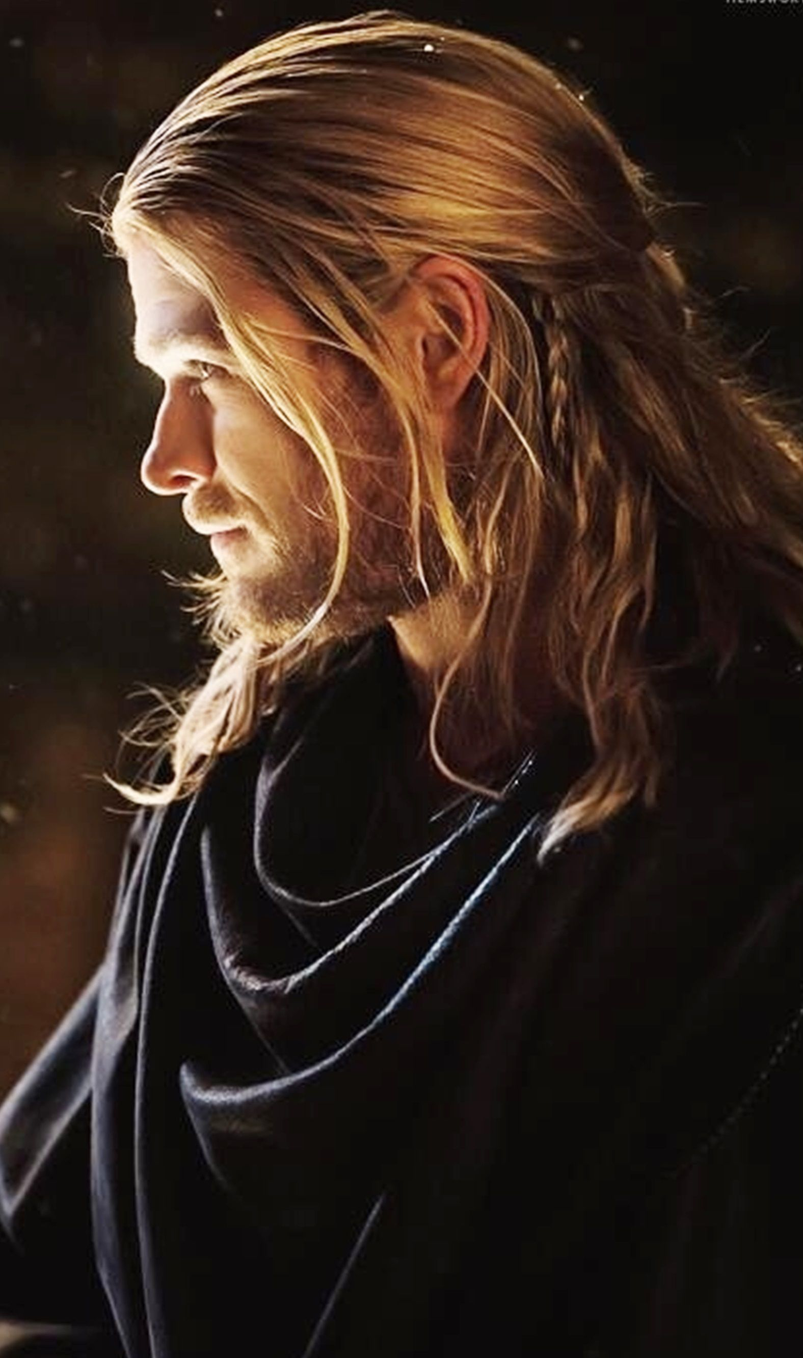 chris hemsworth as thor. i really liked his hair in the second movie