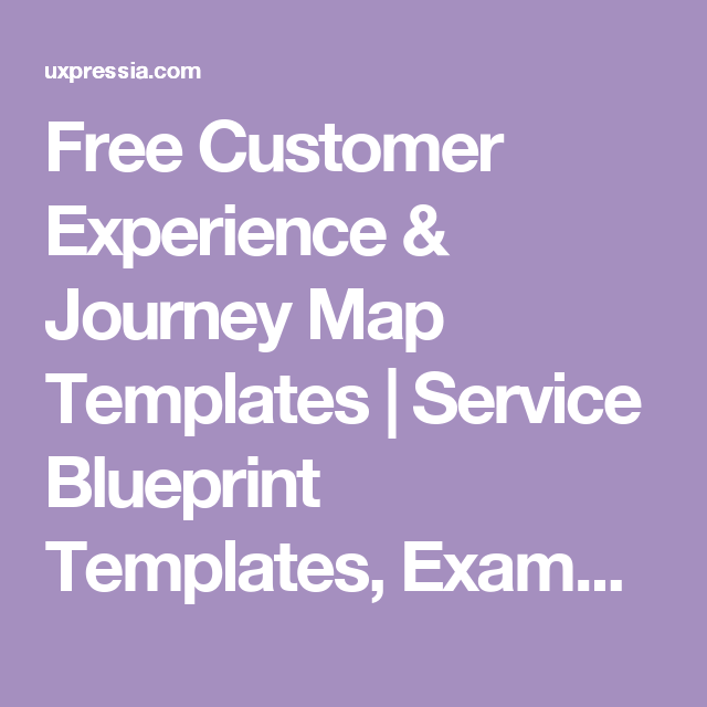 free customer experience journey map templates service blueprint