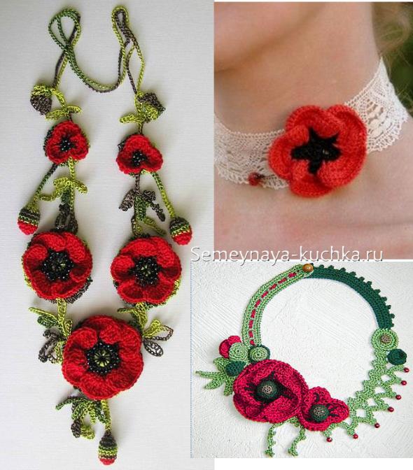 вязание цветка мака крючком цветы крючком Crochet Poppy Crochet