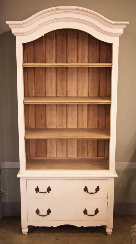 Armoire Turned Bookshelf