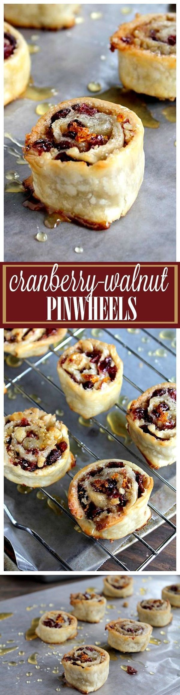 Cranberry and Walnut Pinwheels Recipe (With images
