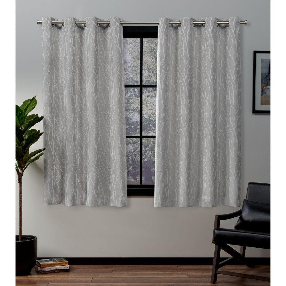 52 X63 Forest Hill Woven Blackout Grommet Top Window Curtain