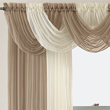 Lisette Rod Pocket Sheer Toga Valance Jcpenney Window Treatments Curtains