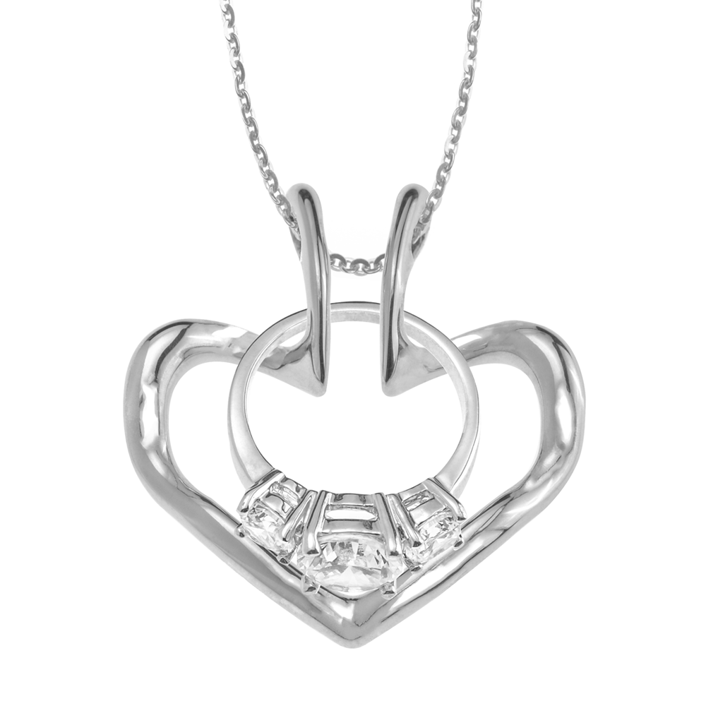 The Heart Ring Holder Necklace (With images) Wedding