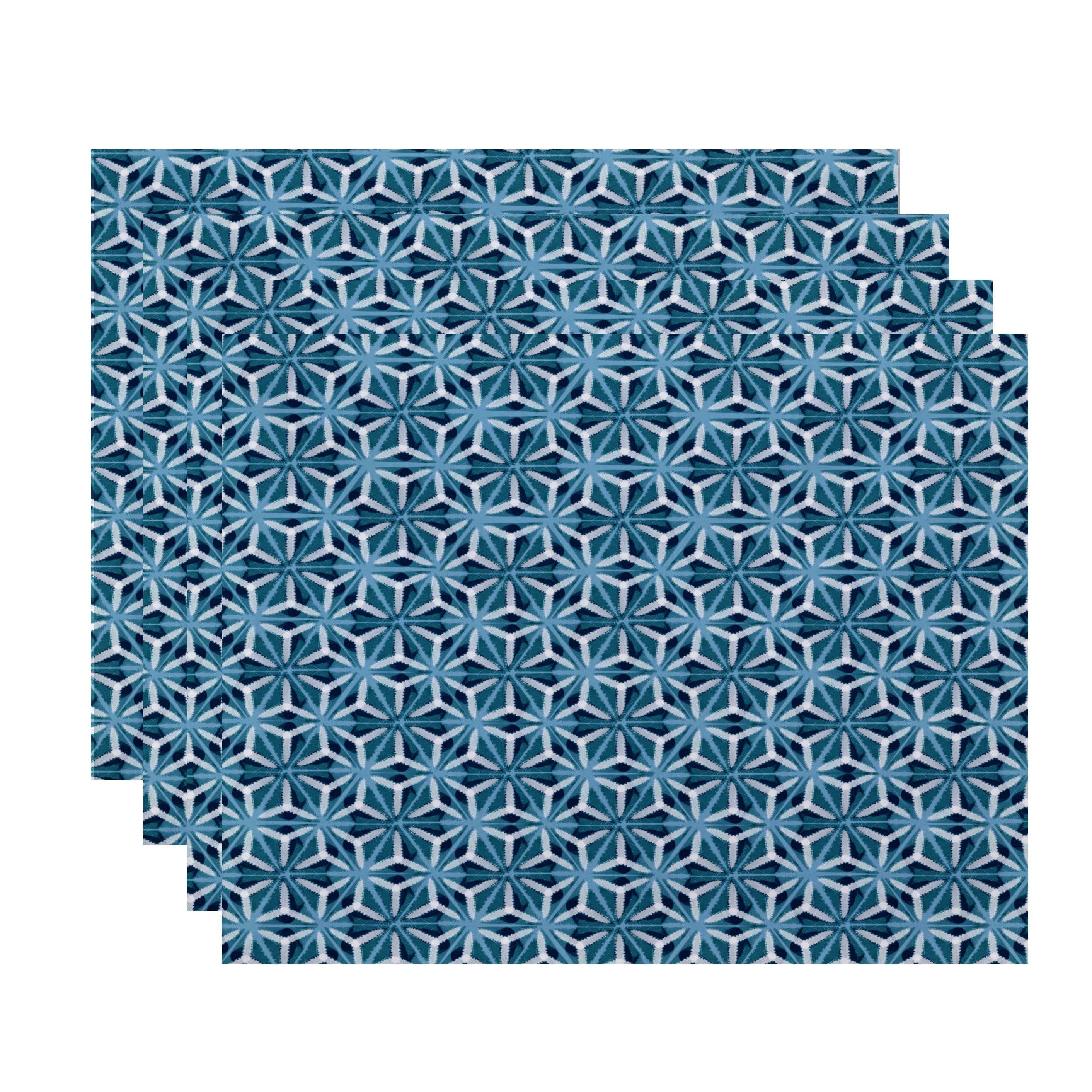 E by Design Water Mosaic Print Place Mat