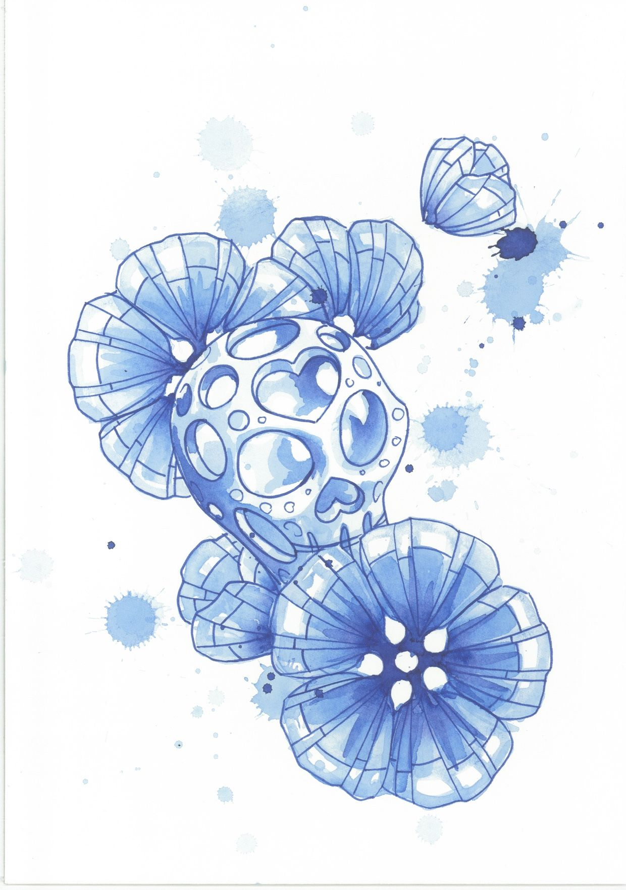 Flaschenetikett Watercolour