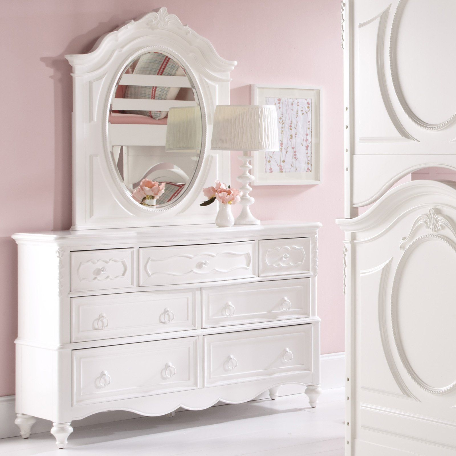 Best Sweetheart 7 Drawer Dresser White From Hayneedle Com 400 x 300