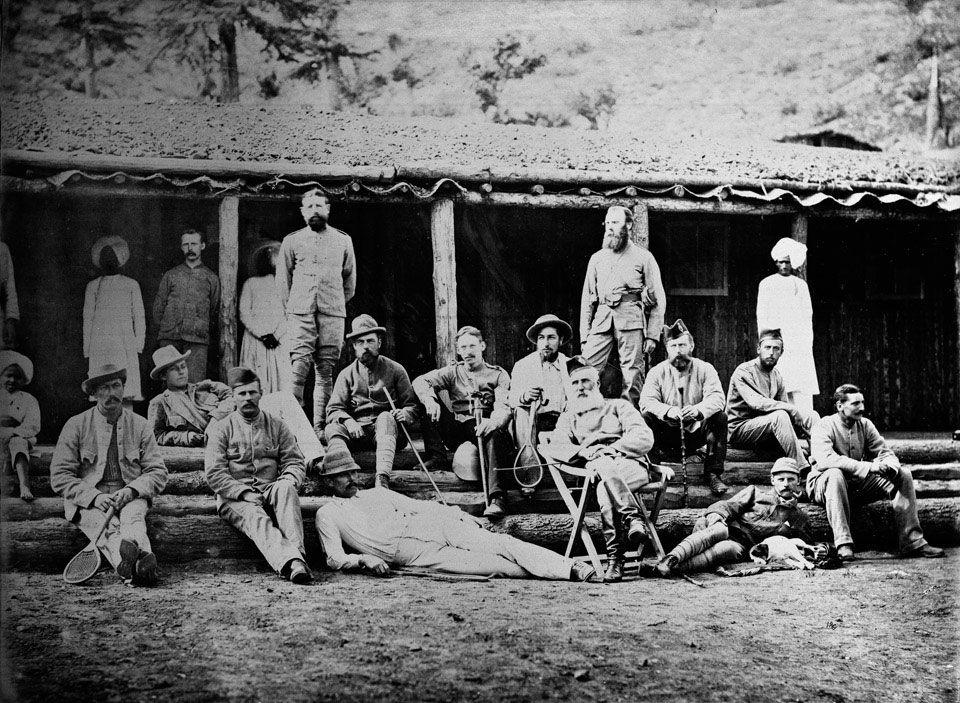 Officers 8th King's Regt, Kurram valley. 1878