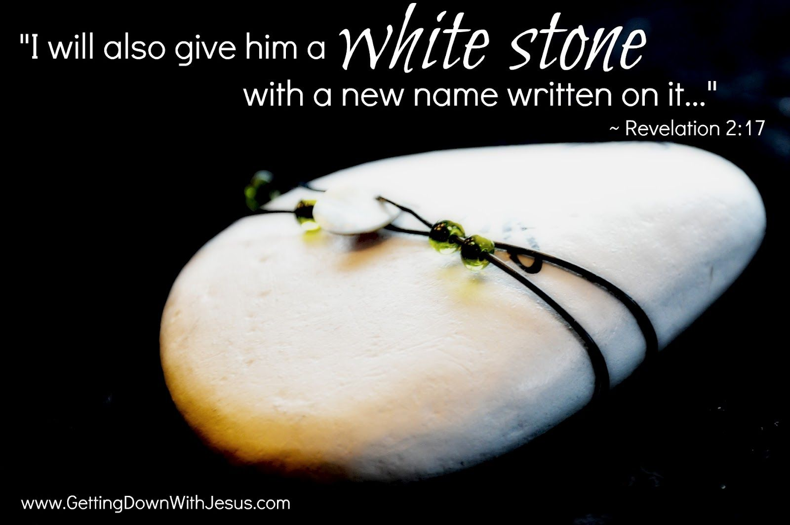 Image result for God gives a white stone with name on it kjv