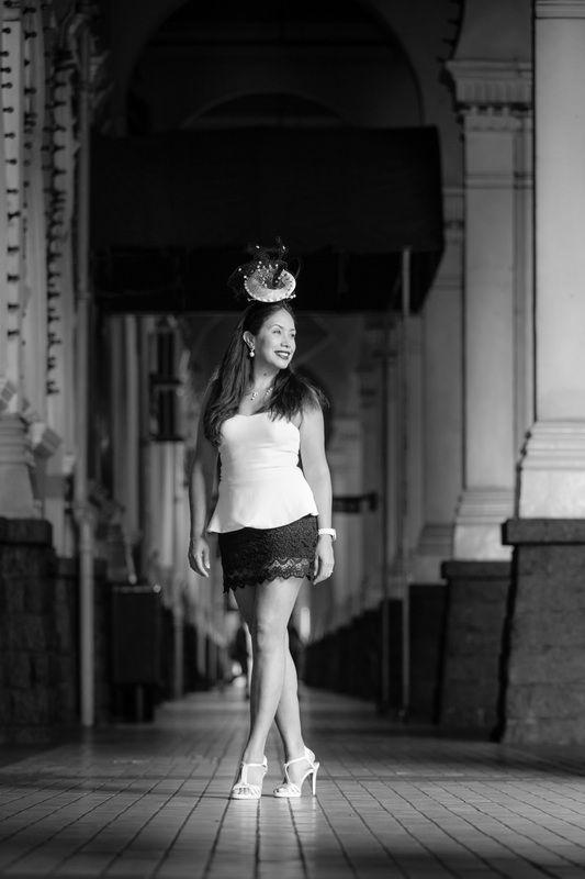 Train station Kuala Lumpur, Photography Sarah Grasset, Hat Annelies Riem Vis, styling Ruth nijsten