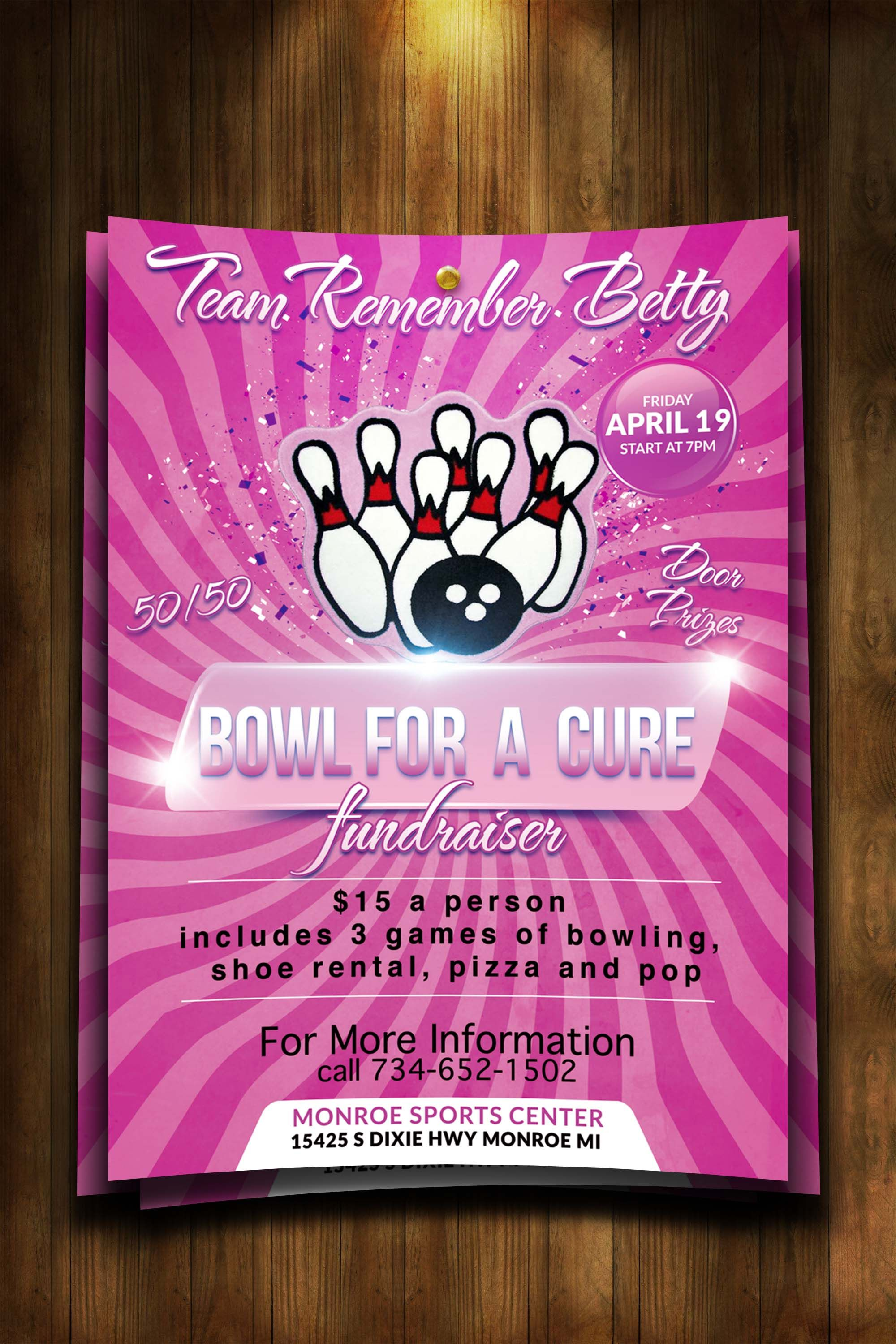 cancer benefit flyer ideas