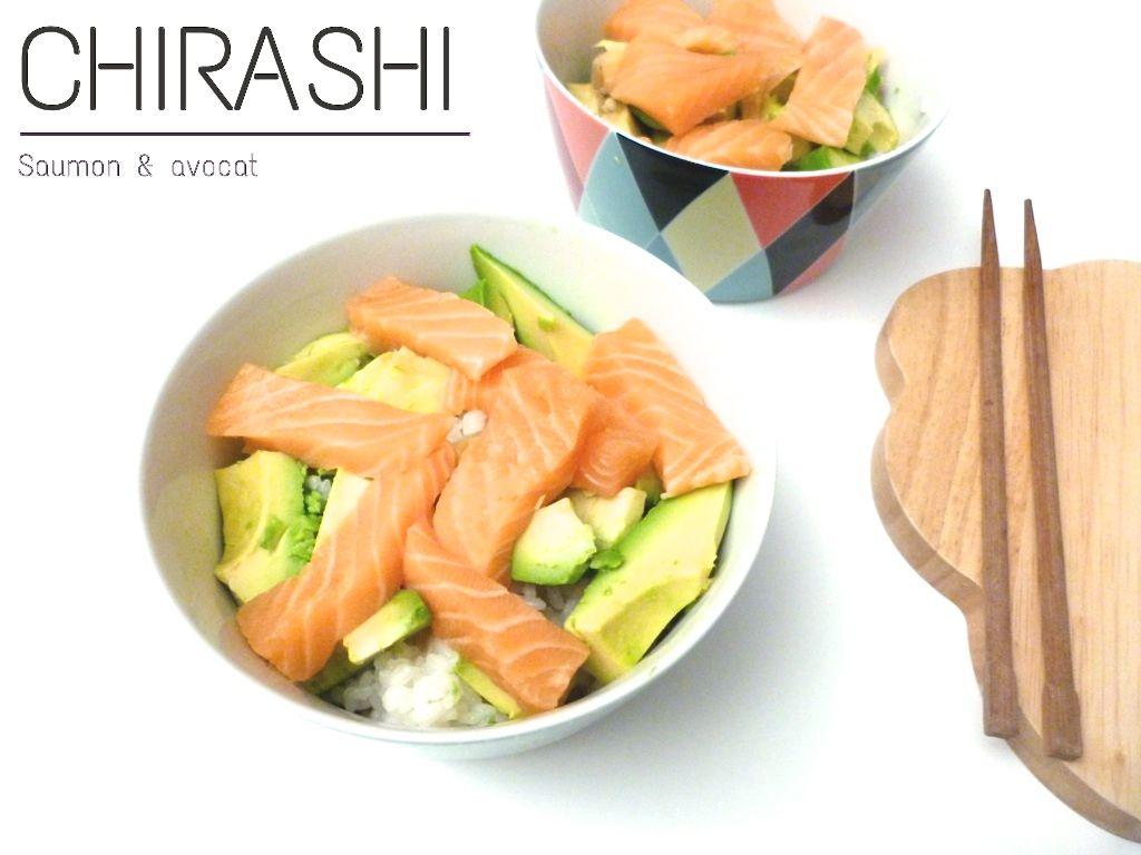 Chirashi Saumon Et Avocat Healthy Pinterest Avocat Saumon