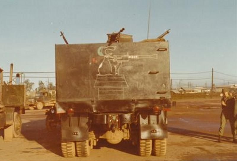 """Born Loser"" guntruck of the 585th Transportation Company, date unknown"