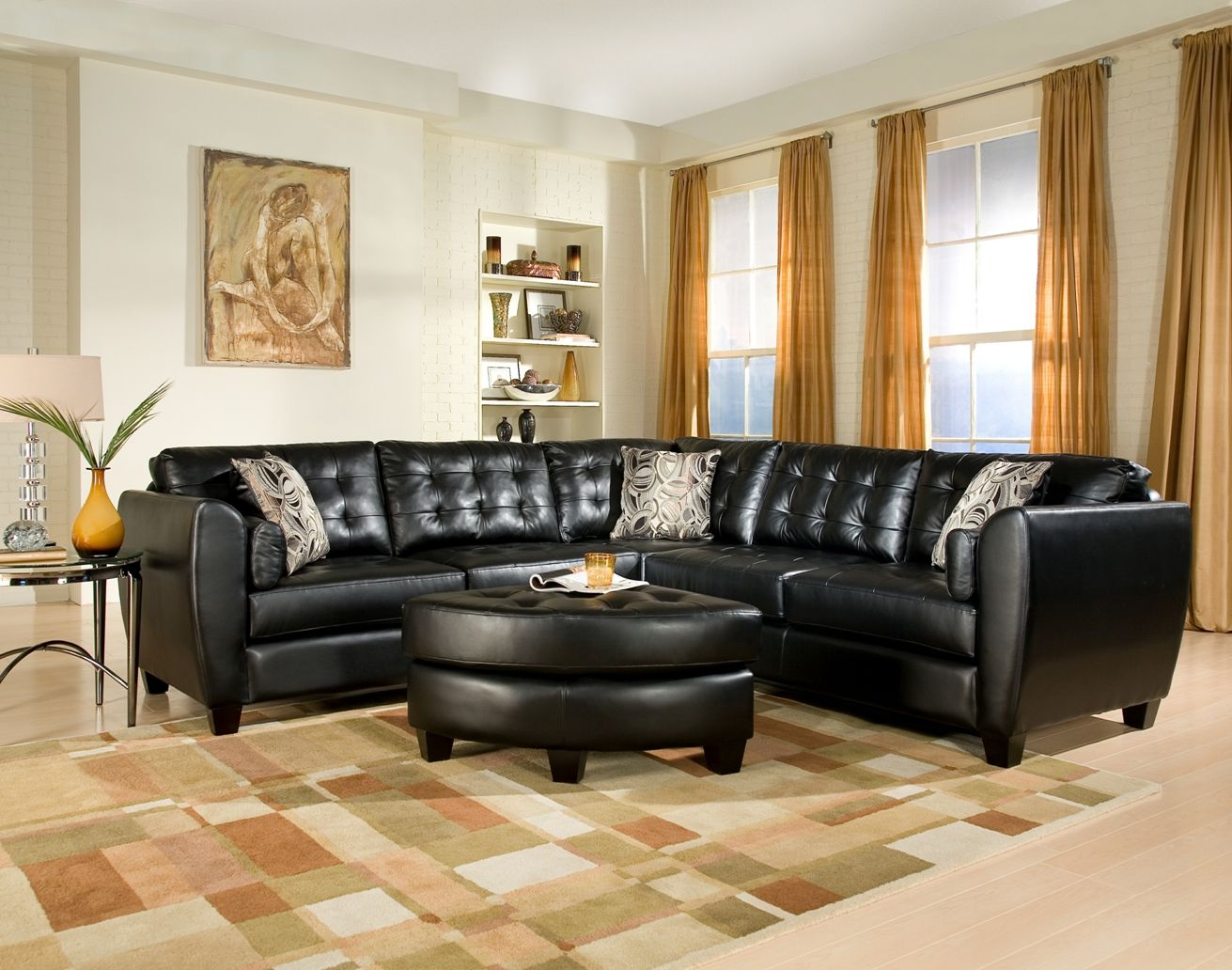 Living Room International Set Living Room With Black Sectional  Google Search  Home Redo .