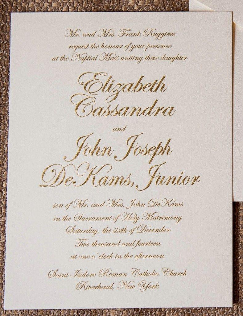Catholic Wedding Invitation Wording