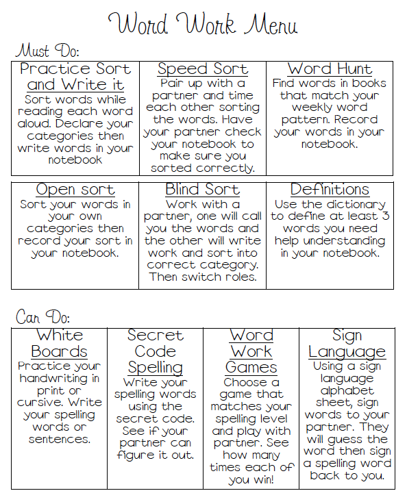 Words Their Way Ideas for independent work. LL   Literacy Ideas ...