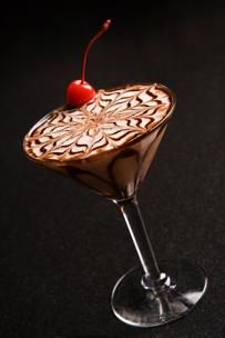 Chocolate martini.....I use 1 1/4 oz. vanilla vodka, 3/4 oz. dark creme de cacao, and 3/4 oz. baileys Irish creme.  Shake over ice and strain into a hershey swirled martini glass.  Enjoy! |Pinned from PinTo for iPad|
