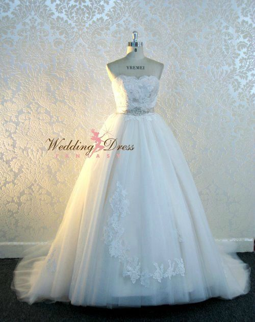 Stunning Fairytale Wedding Dress with illusion neckline Custom Made ...