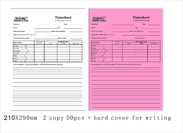 Custom 21X29cm 2 parts Carbonless invoice book add hard cover for - invoice books custom