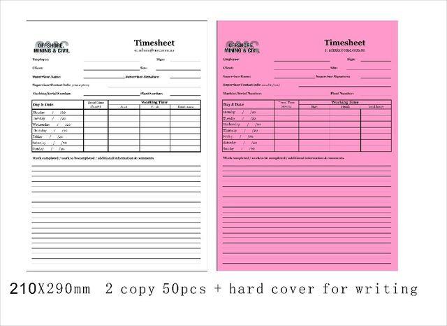 Custom 21X29cm 2 parts Carbonless invoice book add hard cover for - invoice books custom