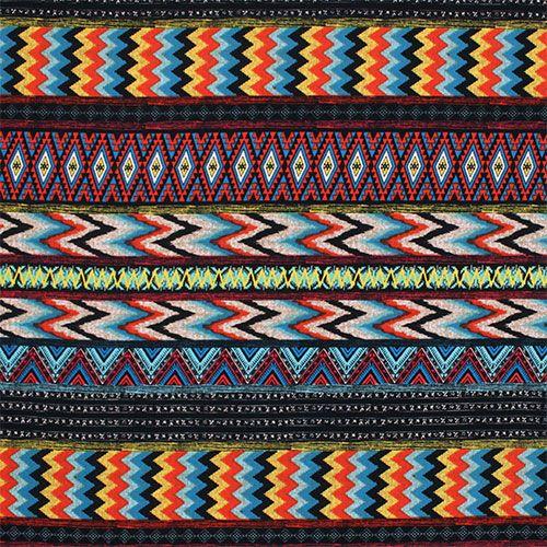 Tile Print Mosaic Inspired Geometric Print Stretch Jersey Dressmaking Fabric