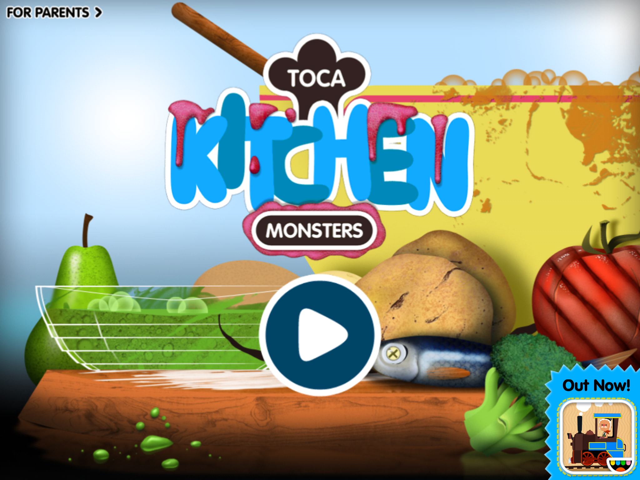 Toca Kitchen Monsters By Toca Boca Allows Your Children To Actually Play With Their Food They Can Slice Boil Fry Cook M Kids App Pops Cereal Box Monster