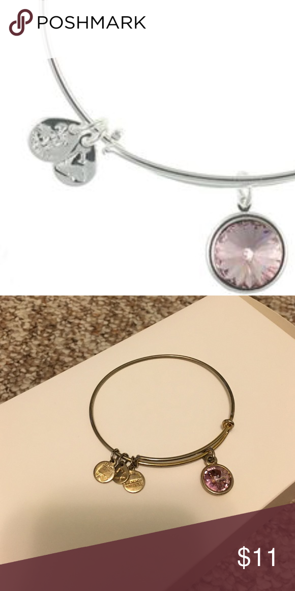 Alex and Ani pink stone silver bracelet Alex and Ani pink stone silver bracelet. Only worn a handful of times. Has some tarnish due to wear. Alex & Ani Jewelry Bracelets