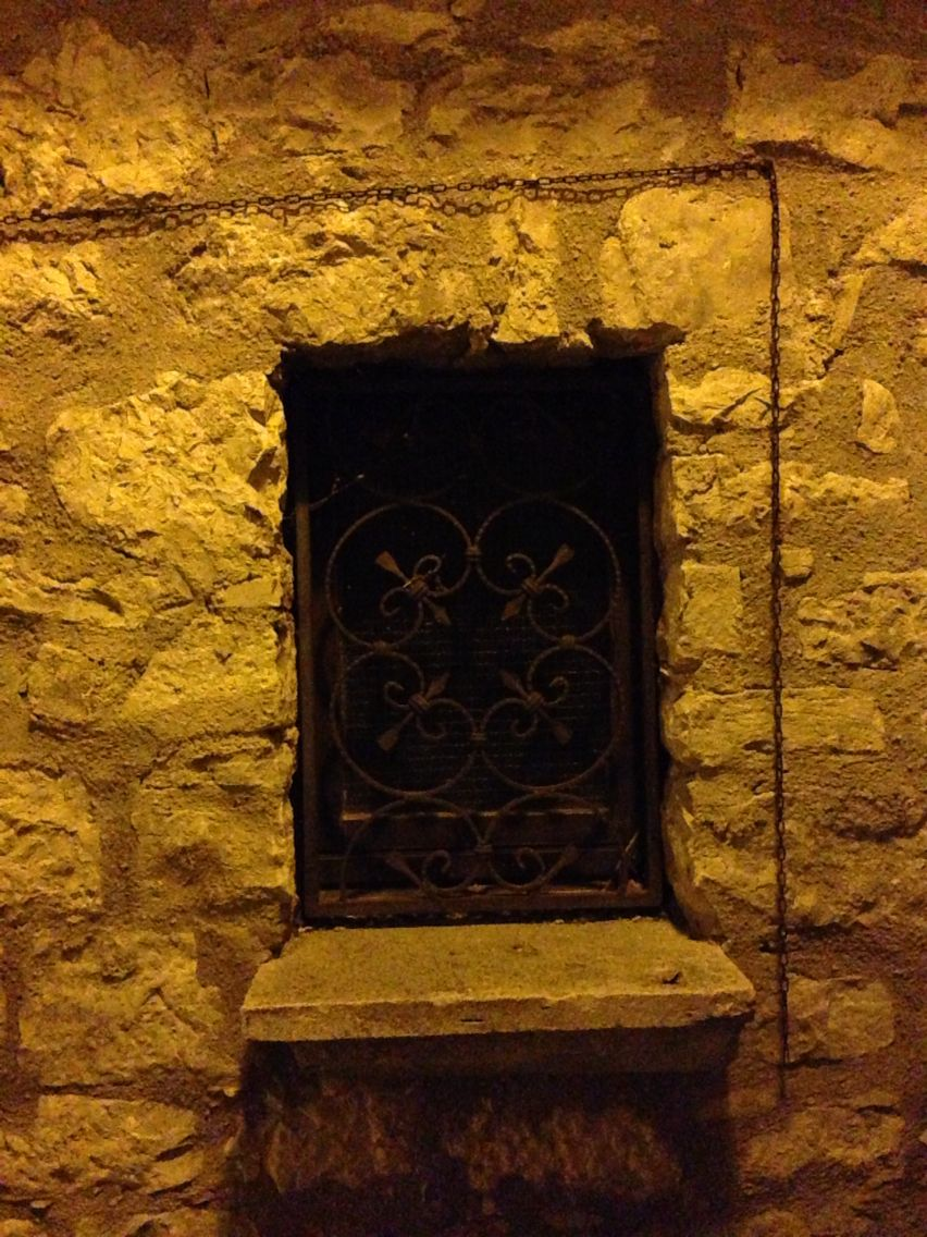 Old window in a medieval italian village. Pontelandolfo Italy