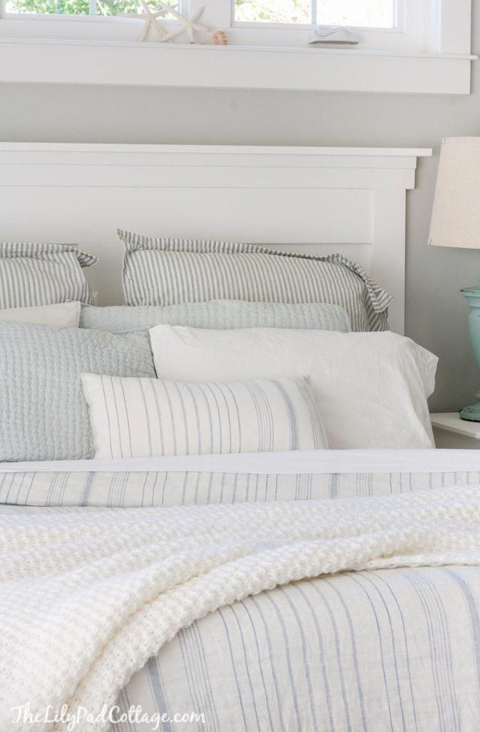 Master Bedroom Bedding - The Lilypad Cottage