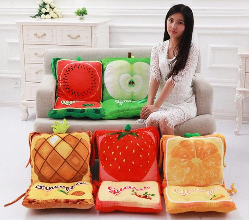 Fruit Padded Rocking Chair Cushions Plush Stuffed Seat