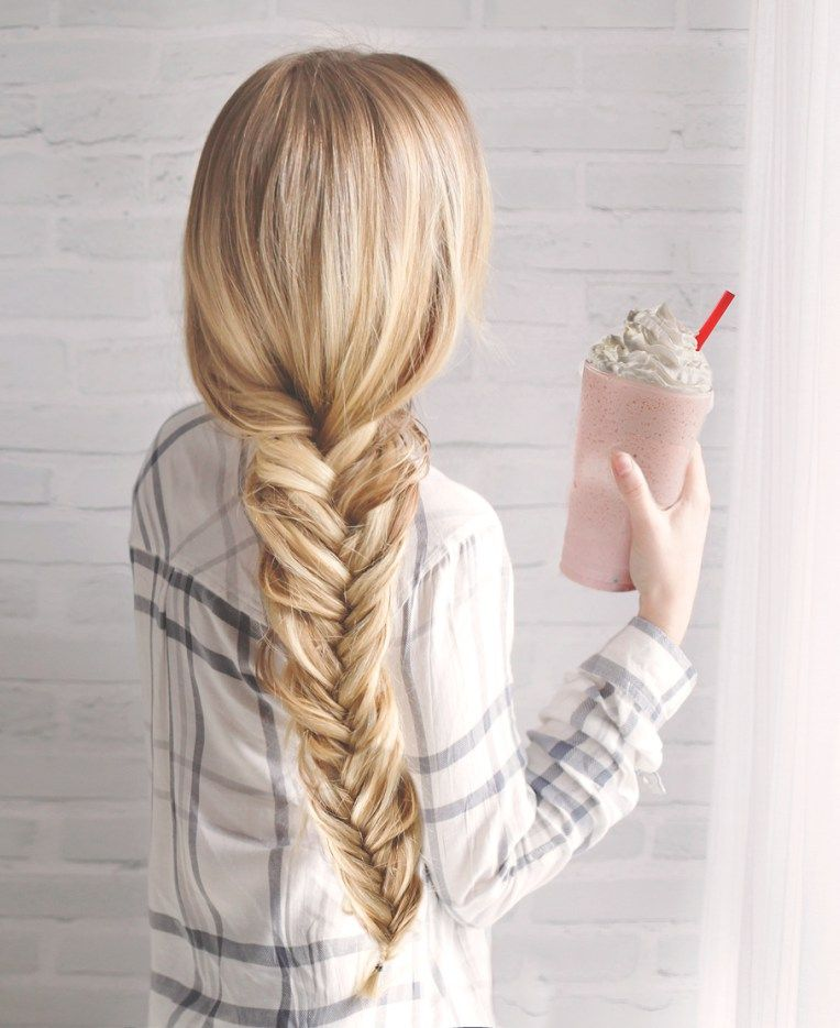 Fishtail Hairstyle New Kassinkafishtailbraidhowto  Make Up  Pinterest  Fishtail
