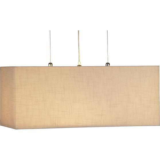 Finley Wheat Rectangle Pendant Lamp In Chandeliers Pendants