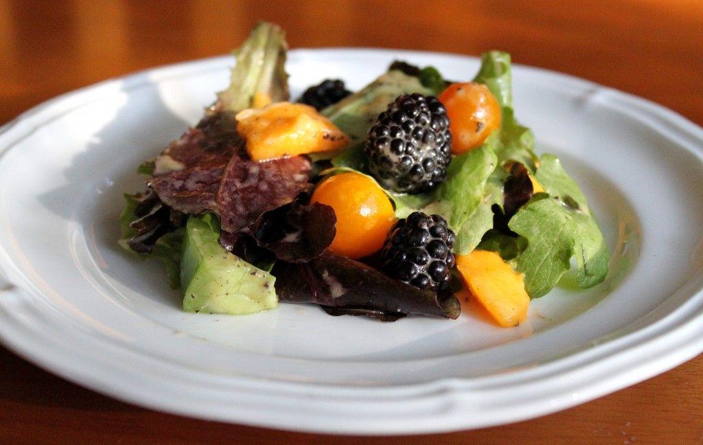 Summer salad papapya seed dressing