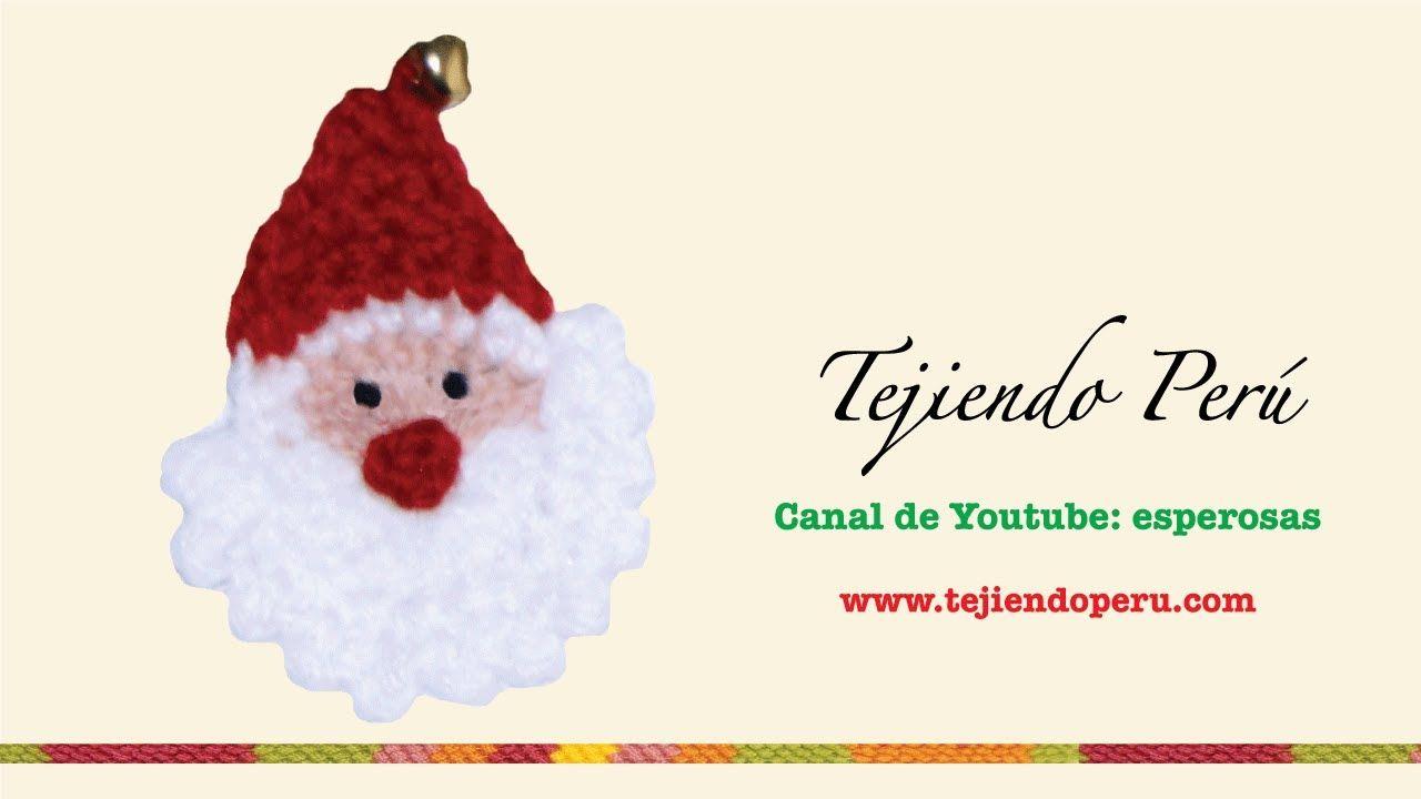 Papa Noel tejido en crochet | Navidad | Pinterest | Navidad, Croché ...